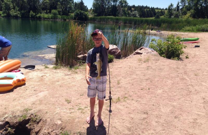 Fishing at Granite Springs Lodge.