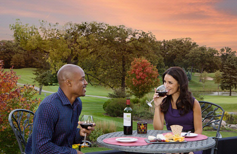 Outdoor dining at Eaglewood Resort & Spa.