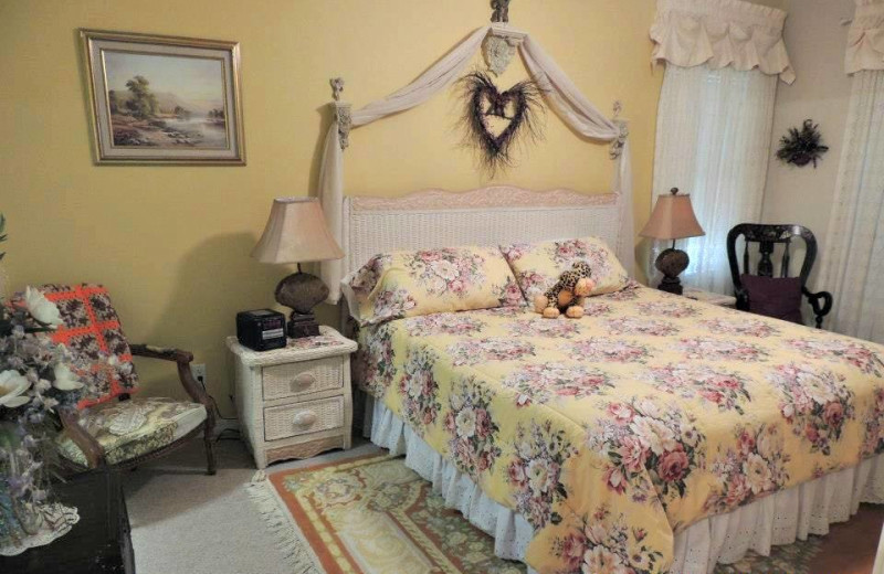 Carriage House suite bedroom at Magnolia Inn Bed & Breakfast.