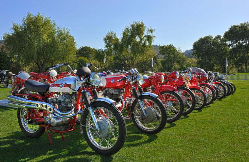 Motorcycle show at Quail Lodge Resort.