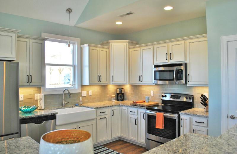Rental kitchen at Access Realty Group.