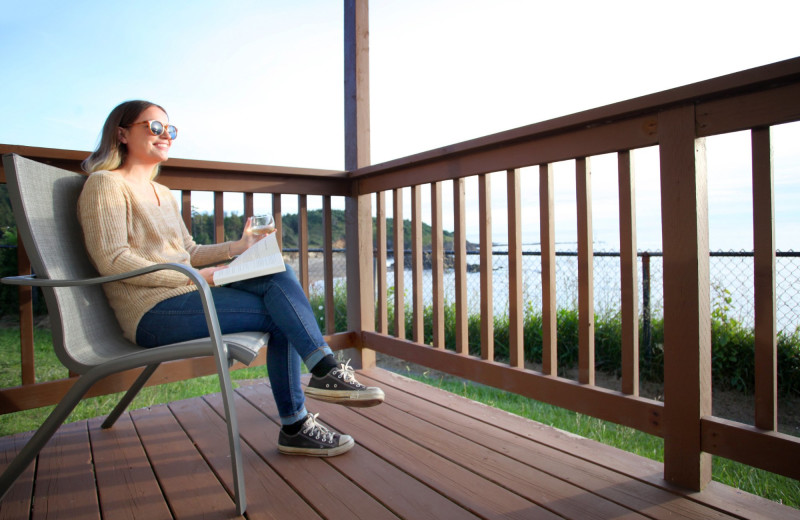 Guest balcony at Surfrider Resort.