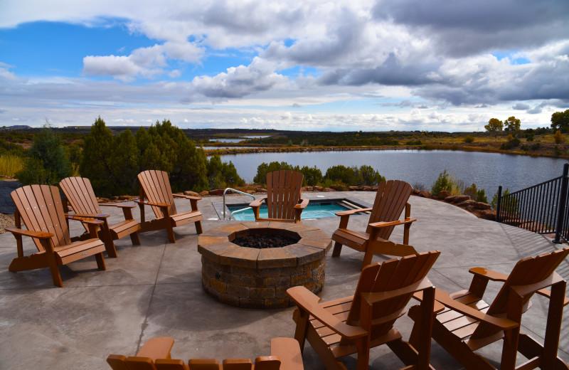 Patio at Six Lakes Resort.