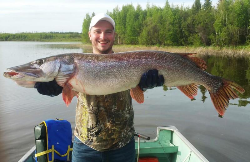 Fishing at Burntwood Lake Lodge.