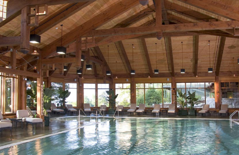 Indoor pool at Mohonk Mountain House.