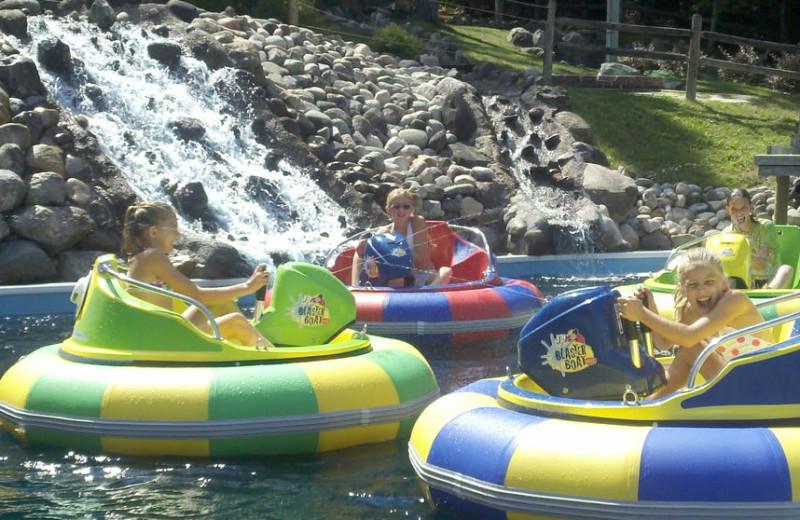 Bumper boats at Big Bear Adventures.
