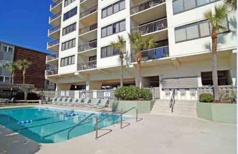 Outdoor pool at McMillan Real Estate.