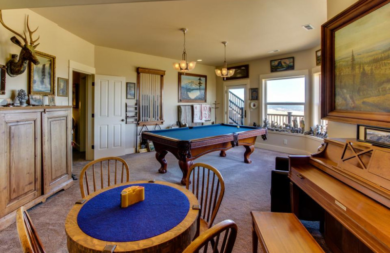 Vacation rental game room at Vacasa Rentals Mt Hood.