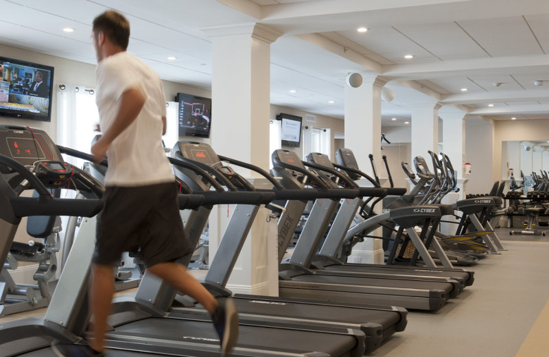 Fitness room at The Nantucket Hotel and Resort.