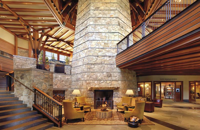 Lobby area at Ritz-Carlton Lake Tahoe.