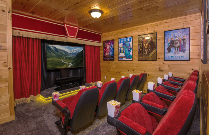 Rental theater at Cabins For You.