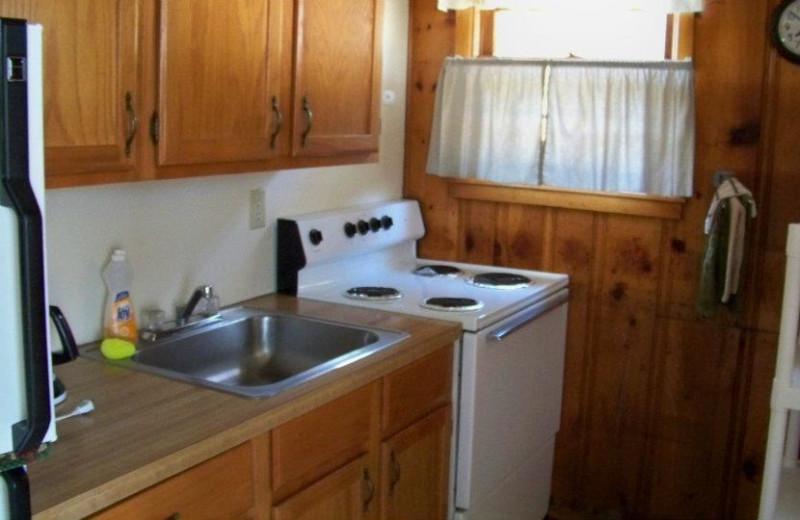 Cottage Kitchen at Ridgecrest Resort