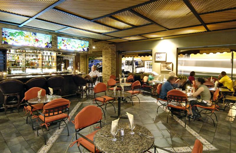 Dining room at Amon Park Plaza Hotel.