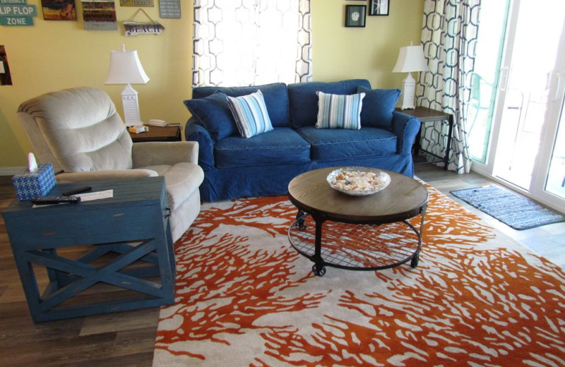 Rental living room at Long Key Vacation Rentals.
