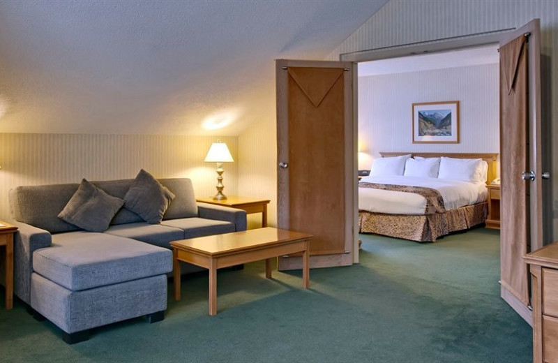 Guest room at Listel Hotel Whistler.