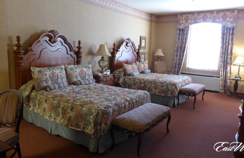Guest room at The Inn and Spa at East Wind.