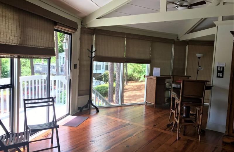 Rental kitchen at Sandhills Rentals.