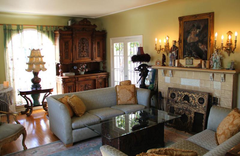 Living room at Cinema Suites.