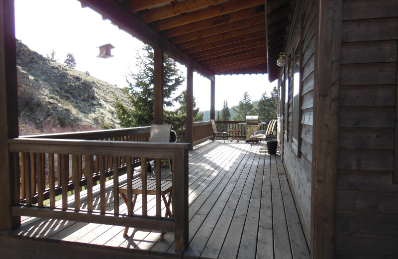 Cabin deck at Madison Management.