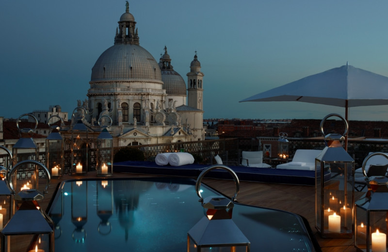Outdoor pool at Hotel Gritti Palace.