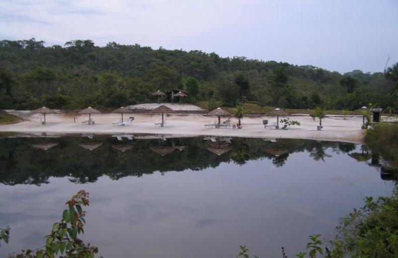 Beach at Amazonat Jungle Lodge.