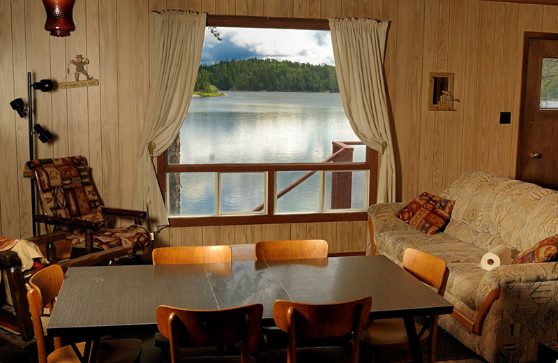 Cabin dining room at Rough Rock Lodge.