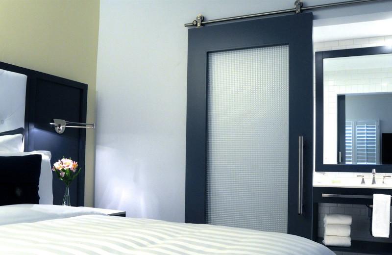 Guest room at Hotel Marisol Coronado.