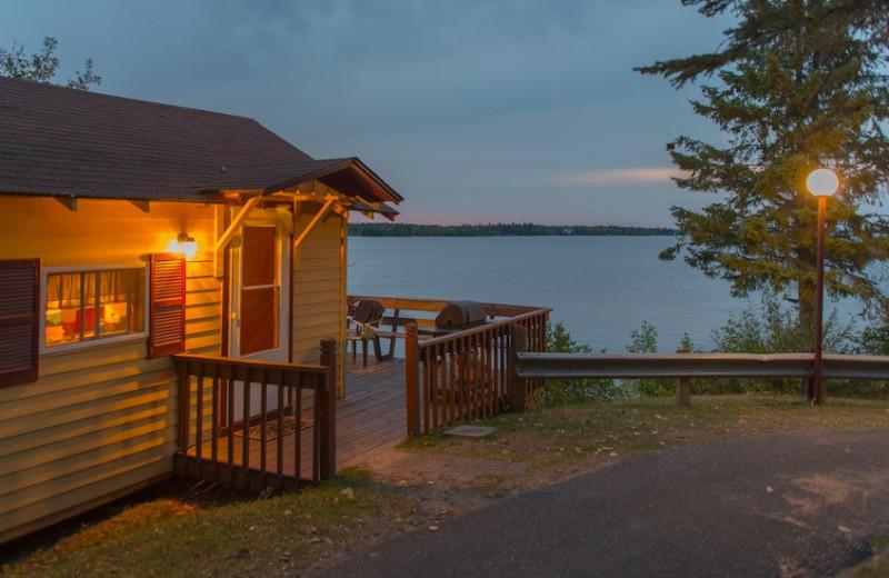 Cabin exterior at Snyder's Idlewild Resort.