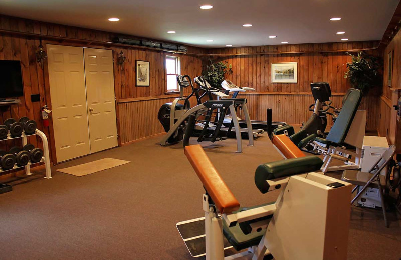 Fitness room at Unity College Sky Lodge.