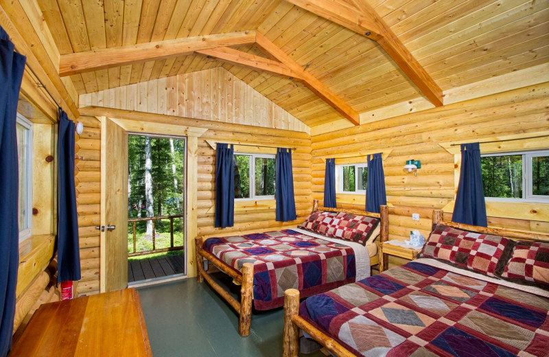 Cabin beds at Kenai Backcountry Lodge.