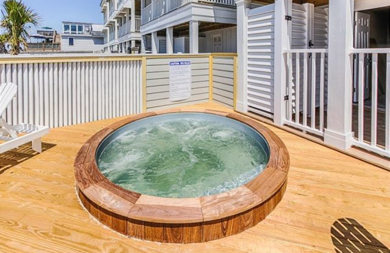 Rental hot tub at Realty World - First Coast Realty.