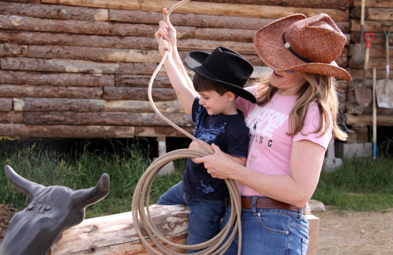 Rope practice at Paradise Guest Ranch.