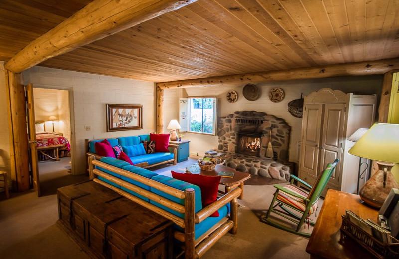 Cabin living room at Briar Patch Inn.