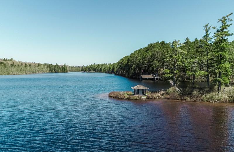 Lake view at White Pine Camp.