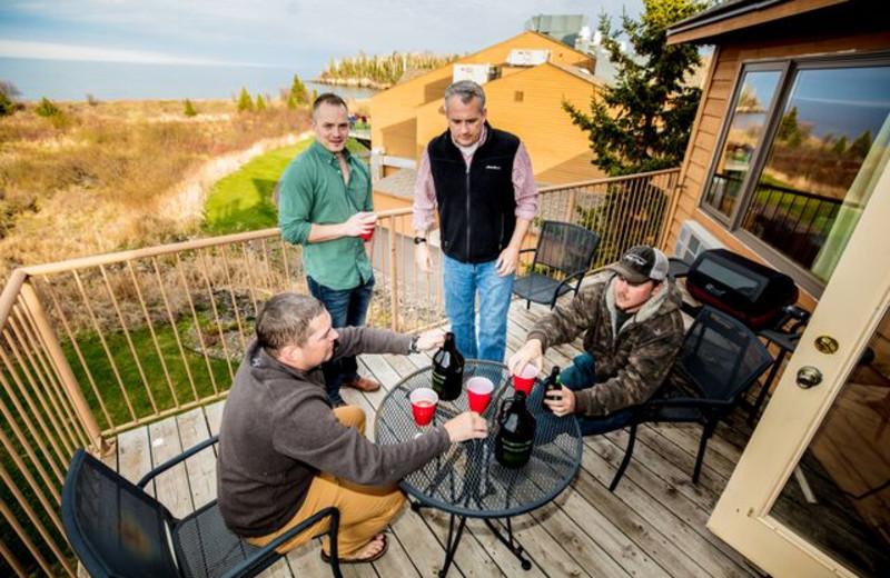 Guest balcony at Superior Shores Resort.