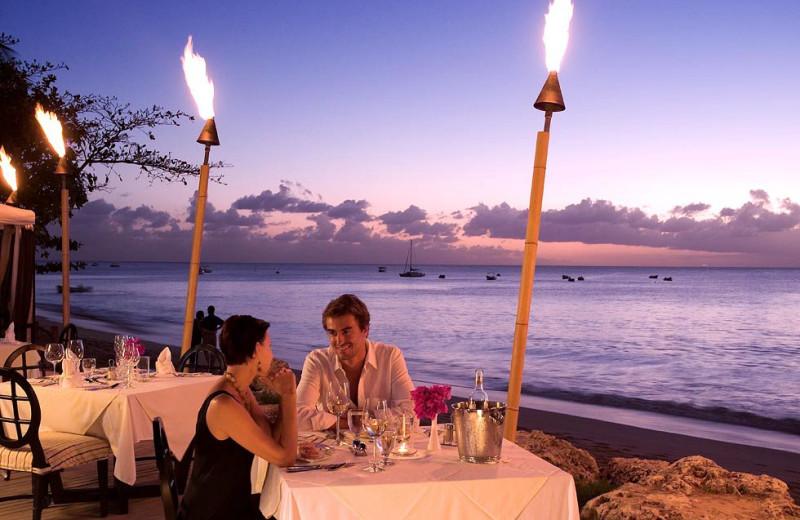 Patio dining at Mango Bay.