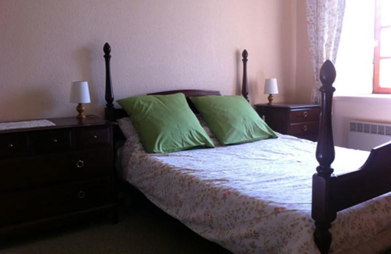 Guest room at La Tarais.