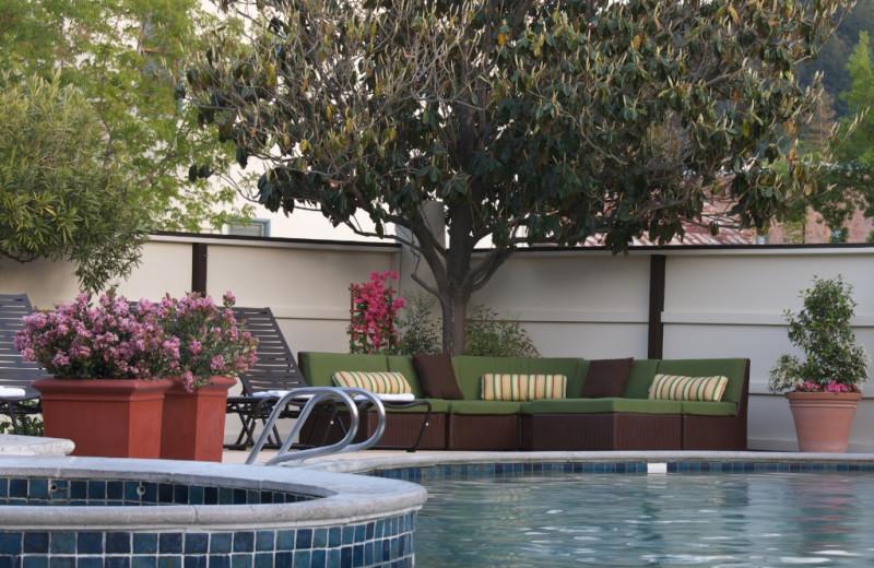 Pool area at Roman Spa Hot Springs Resort.