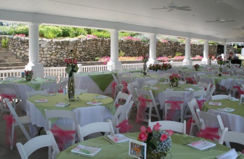 Wedding reception at Bay Pointe Inn.