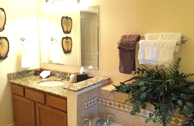 Rental bathroom at Leabridge Vacations.