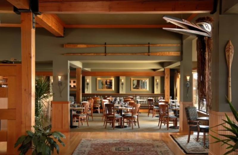 Dining area at Long Beach Lodge Resort.