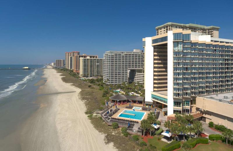 Exterior view of Hilton Myrtle Beach Resort.