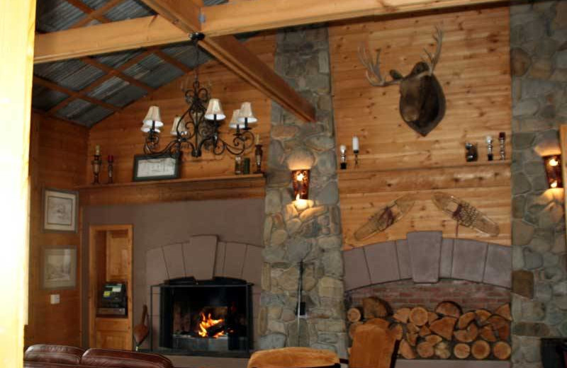 Lobby area at The Lodge at Sandpoint.
