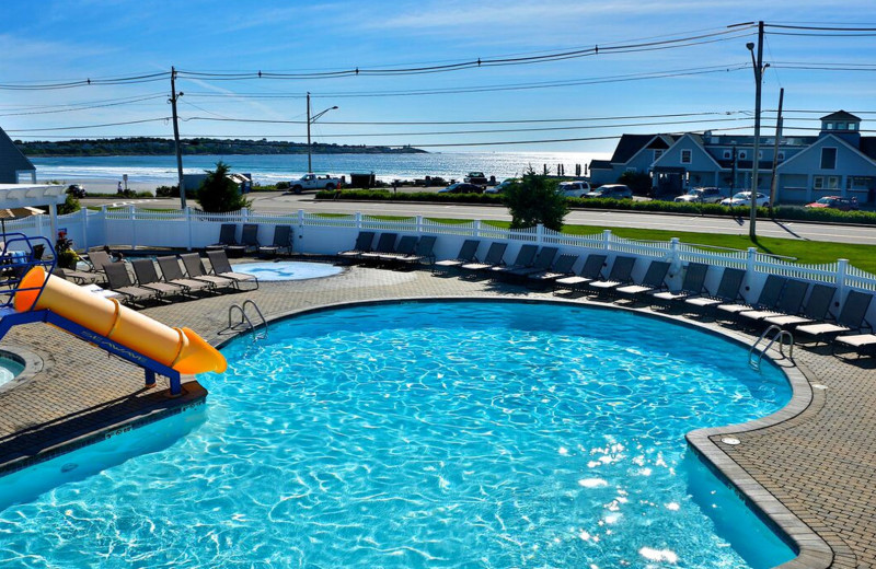 Outdoor pool at Anchorage Inn.