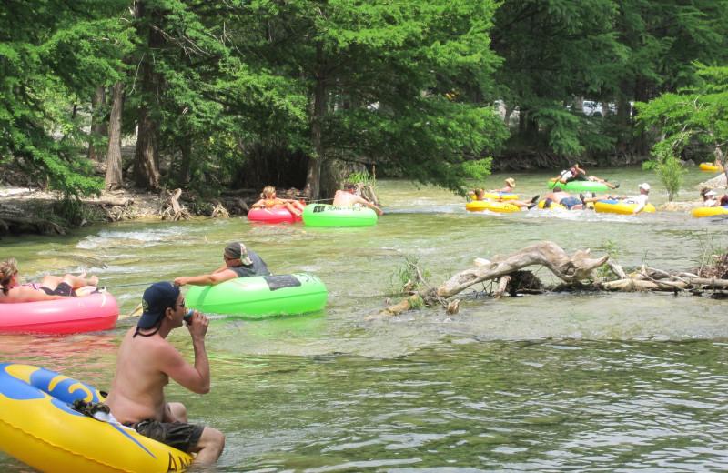 River tubing at Frio River Vacation Rentals.