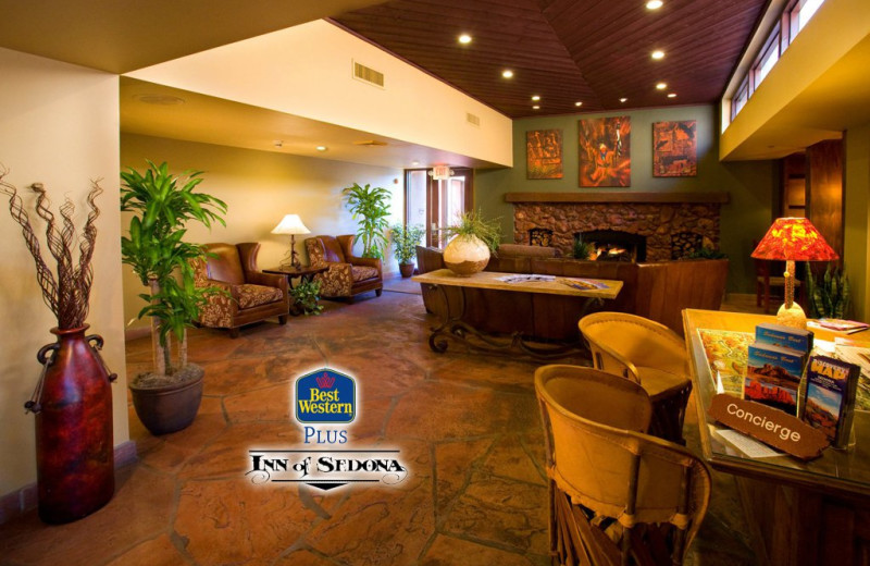 Lobby at Best Western PLUS Inn of Sedona.