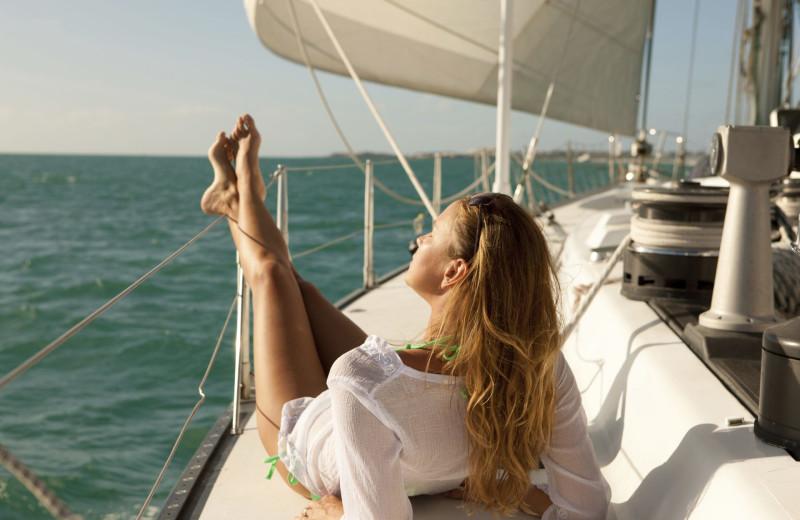 Sailing at Oceans Edge Key West Hotel & Marina.