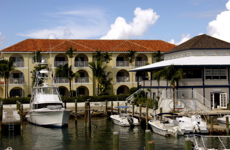 Exterior view of Paradise Harbour Club.