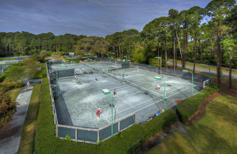 Tennis court at Jekyll Island Club Hotel.