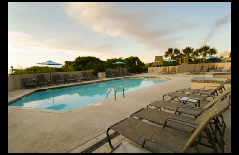 Outdoor pool at Shell Island Resort.